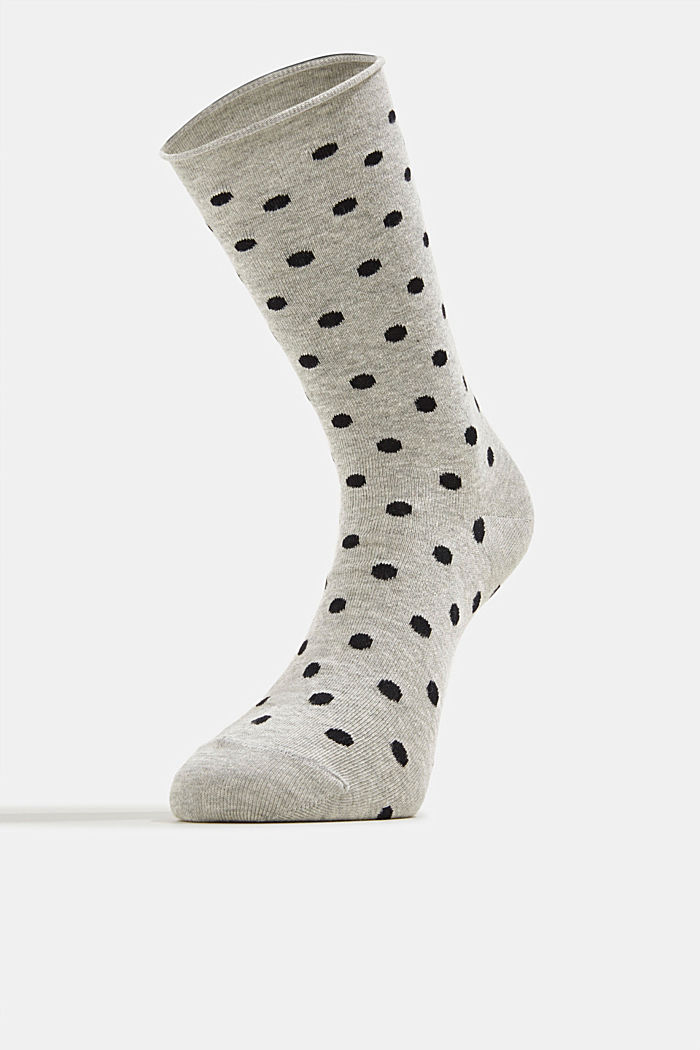 Double pack of blended cotton socks, STORM GREY, detail image number 0