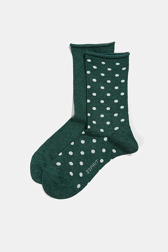 2er-Pack Socken aus Baumwoll-Mix, DARK JADE, detail image number 0