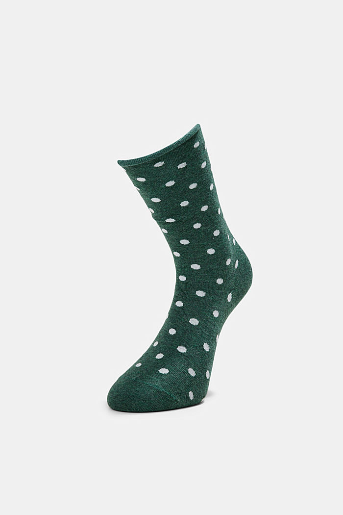 2er-Pack Socken aus Baumwoll-Mix, DARK JADE, detail image number 2