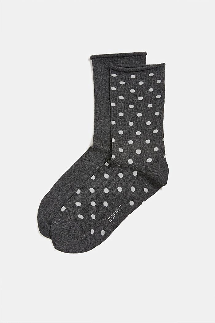 2er-Pack Socken aus Baumwoll-Mix, ANTHRACITE, detail image number 0