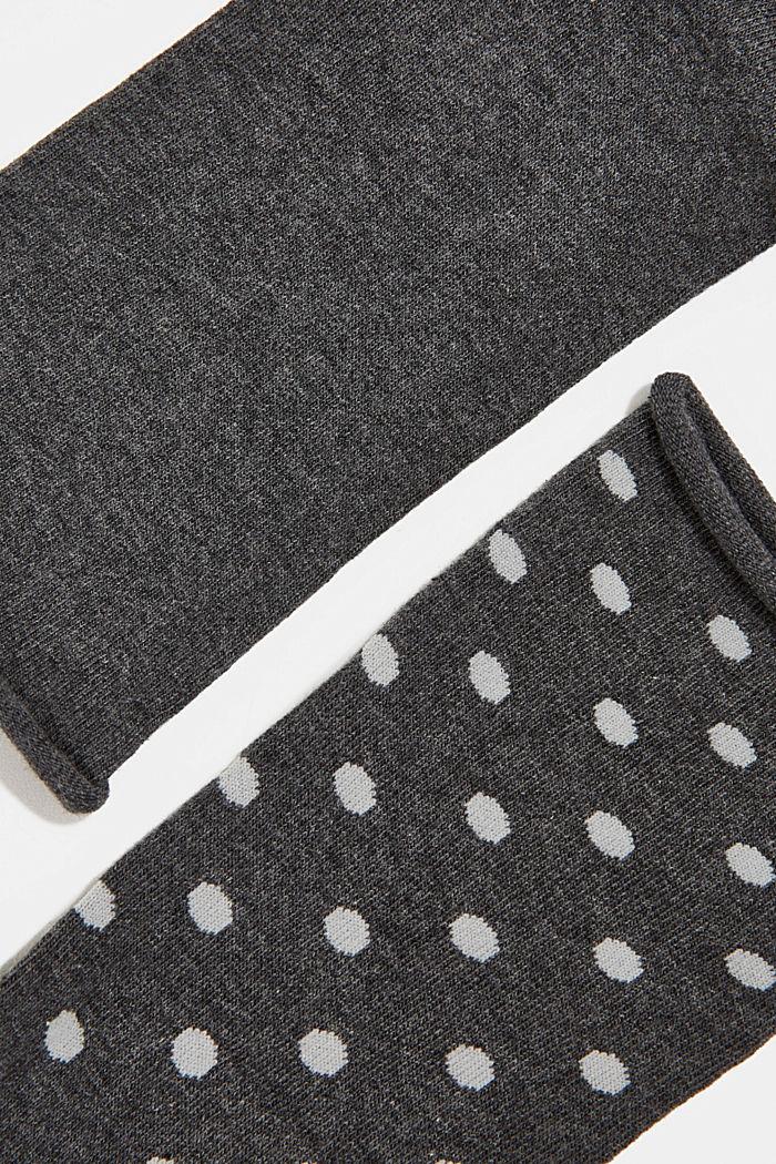 2er-Pack Socken aus Baumwoll-Mix, ANTHRACITE, detail image number 1