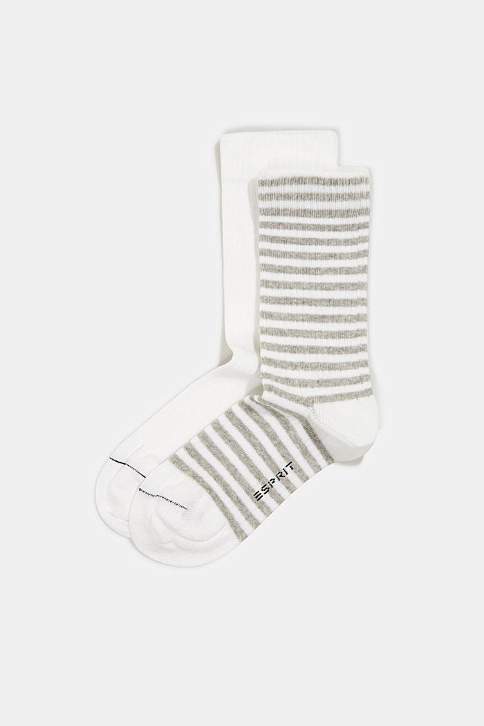 2er-Pack Socken aus Baumwoll-Mix, WHITE, detail image number 0