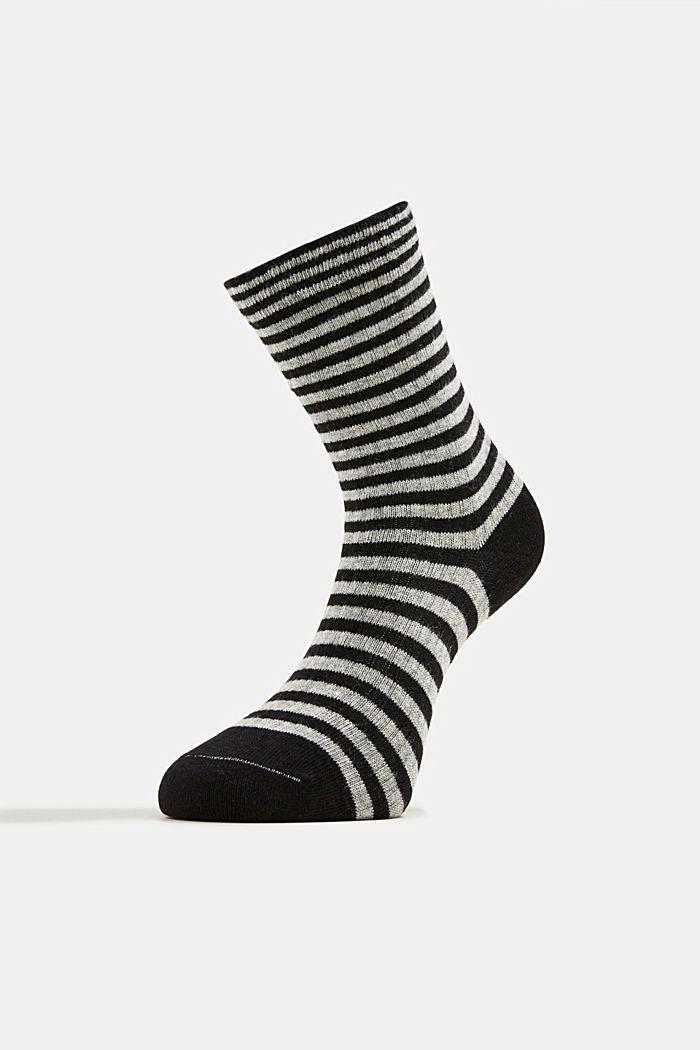 Double pack of blended cotton socks, BLACK, detail image number 2