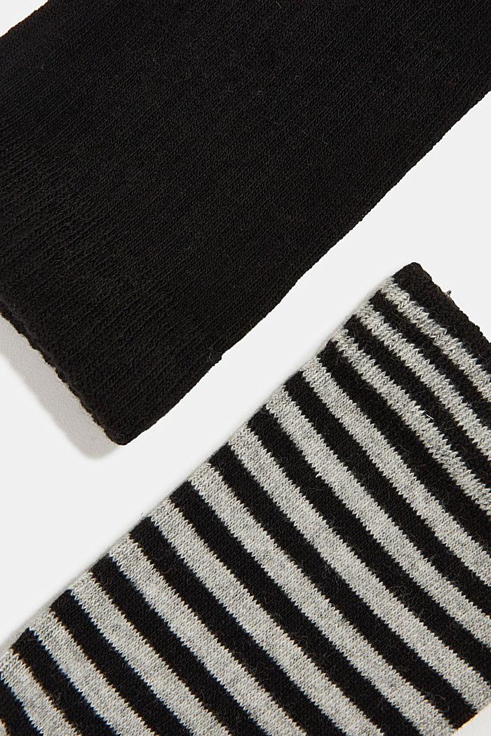 Double pack of blended cotton socks, BLACK, detail image number 1