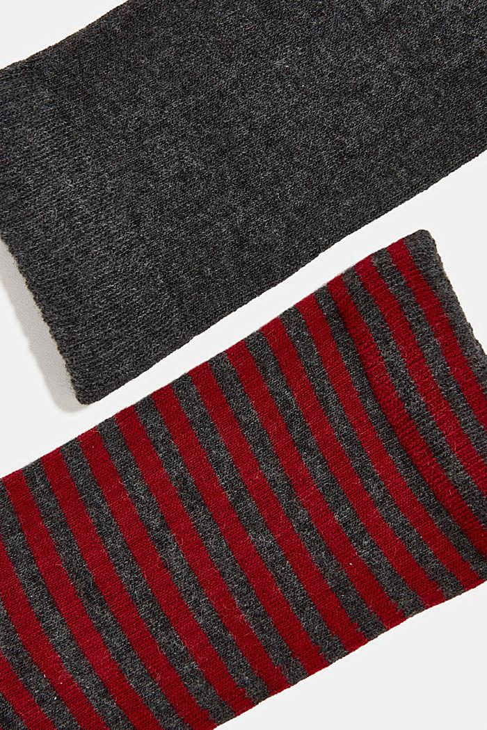 Double pack of blended cotton socks, ANTHRACITE MELANGE, detail image number 1