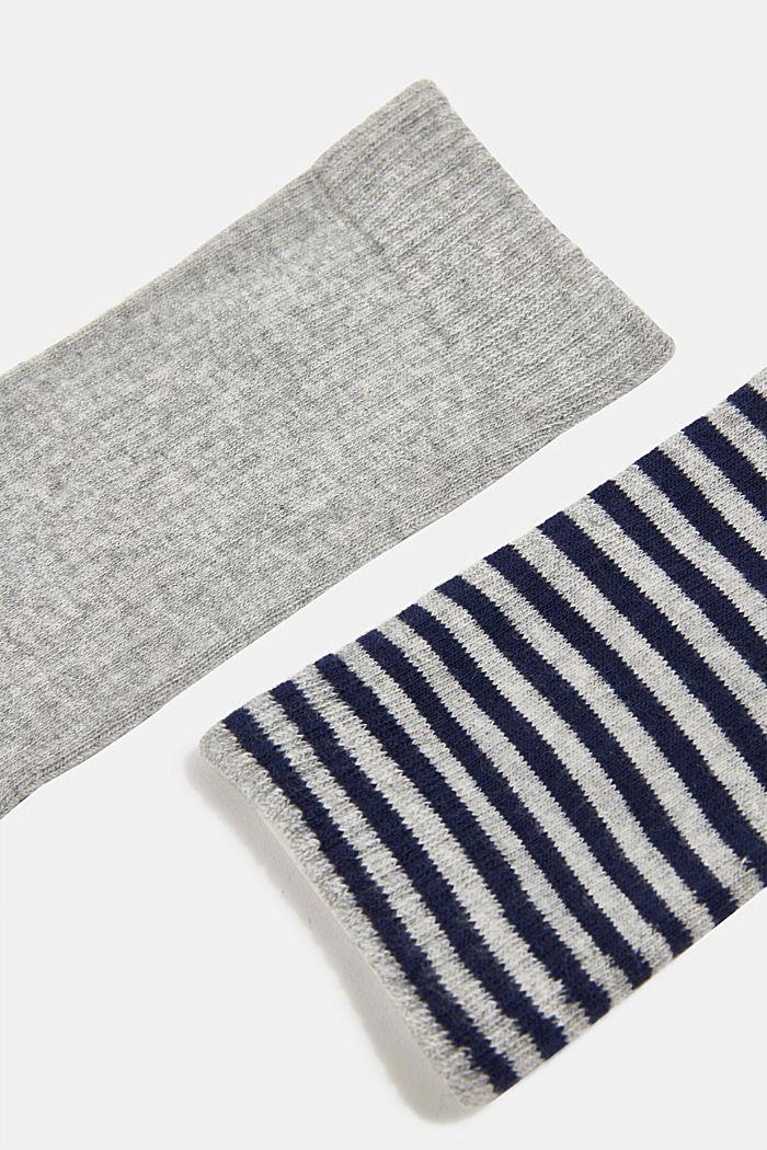 Double pack of blended cotton socks, LIGHT GREY, detail image number 2