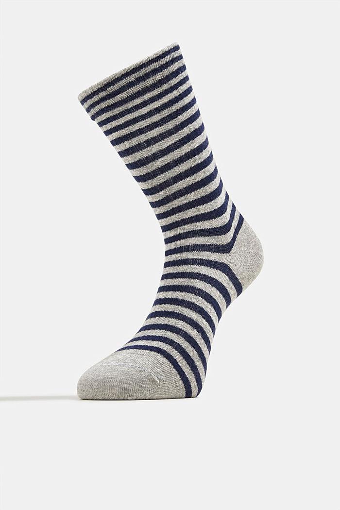 Double pack of blended cotton socks, LIGHT GREY, detail image number 1