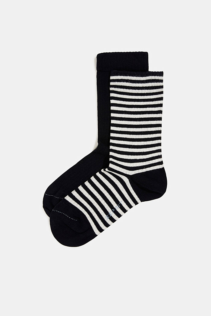 Double pack of blended cotton socks, MARINE, detail image number 0
