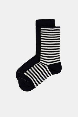 Double pack of blended cotton socks, MARINE, detail