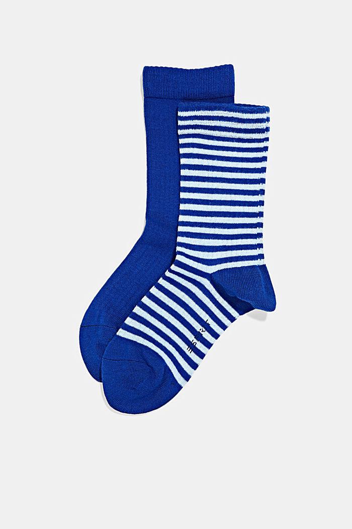 2er-Pack Socken aus Baumwoll-Mix, COBALT, detail image number 0