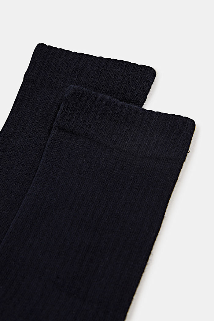 Double pack of socks with a ribbed texture, MARINE, detail image number 1