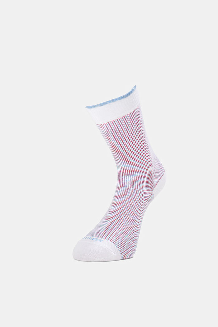 2er-Pack Piqué Socken aus Baumwoll-Mix, WHITE, detail image number 2