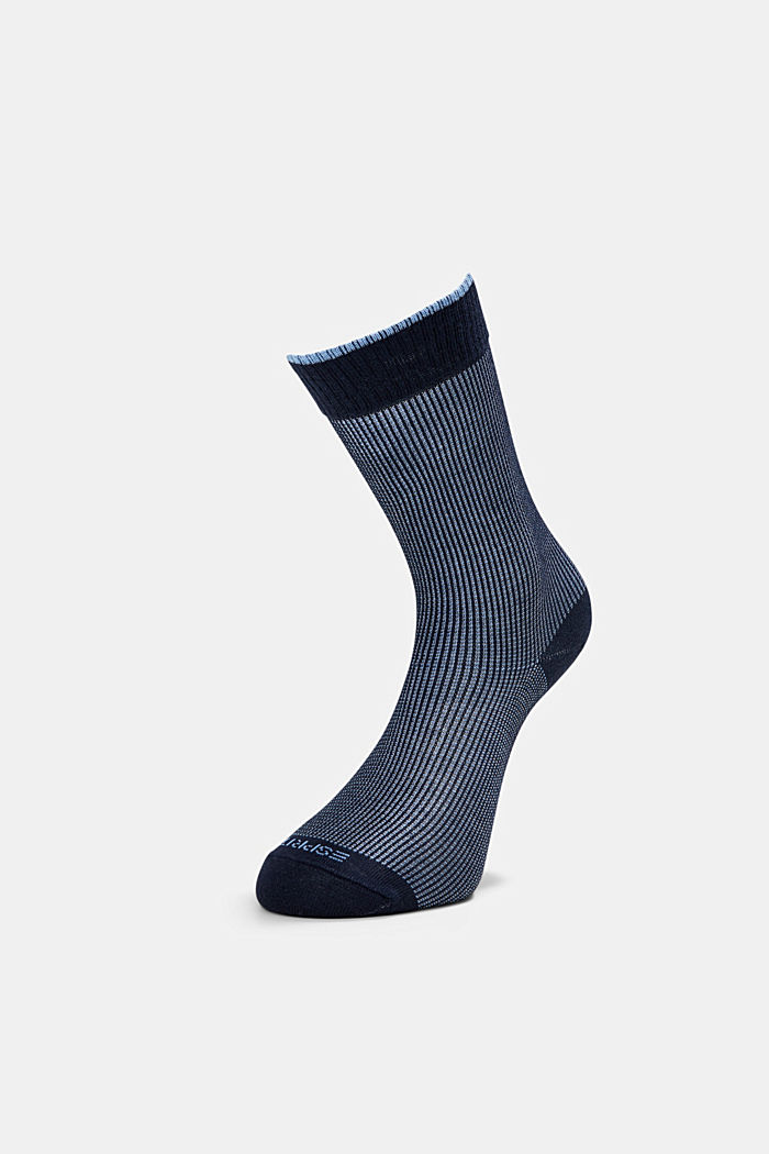 2er-Pack Piqué Socken aus Baumwoll-Mix, MARINE, detail image number 2