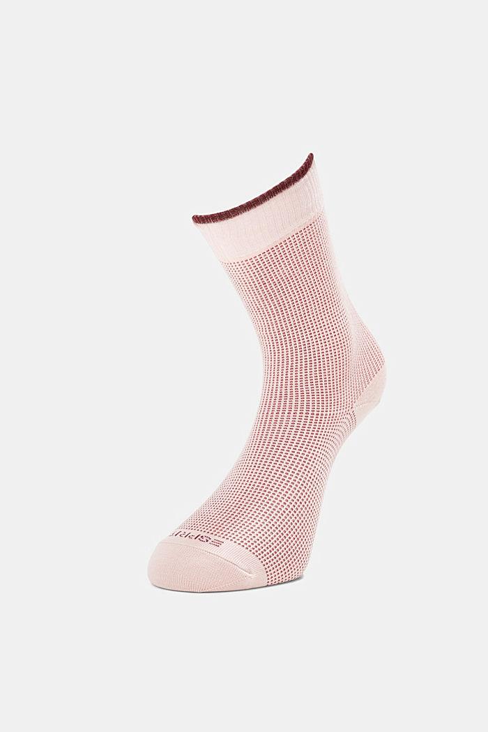 2er-Pack Piqué Socken aus Baumwoll-Mix, MISTY ROSE, detail image number 2