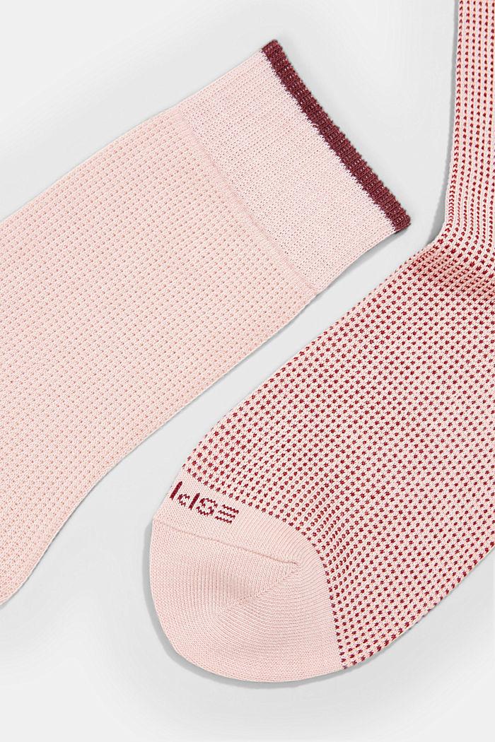 2er-Pack Piqué Socken aus Baumwoll-Mix, MISTY ROSE, detail image number 1