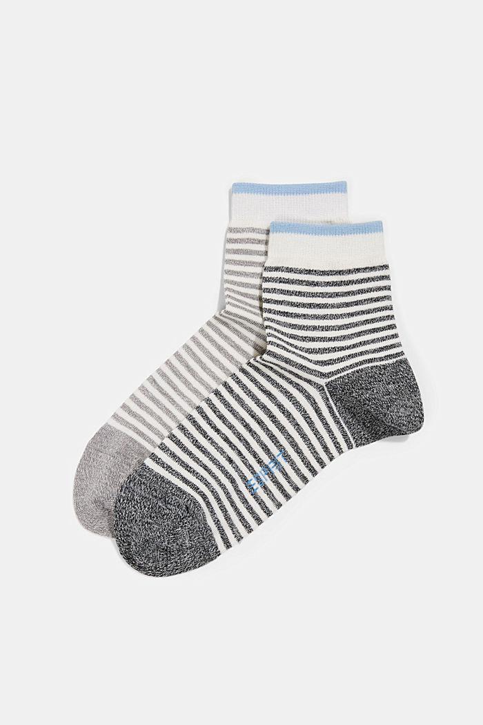 2er-Pack Ringel-Socken mit Organic Cotton, BLACK, detail image number 0