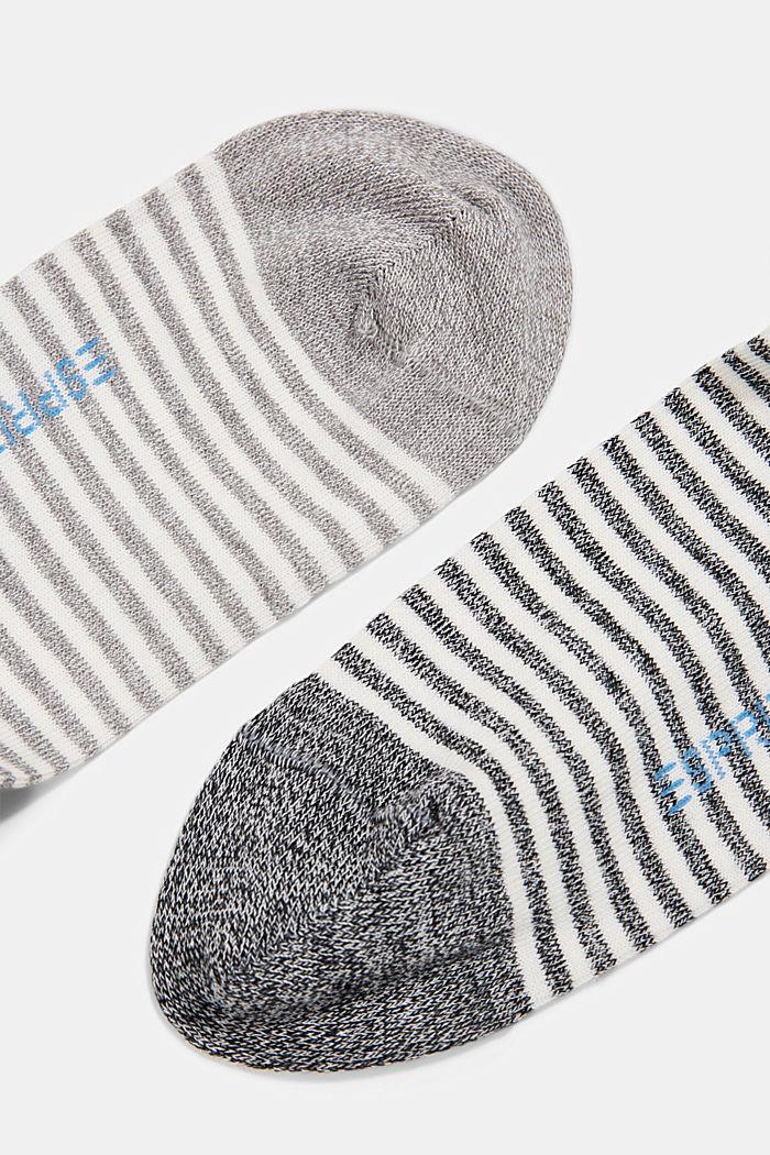2er-Pack Ringel-Socken mit Organic Cotton, BLACK, detail image number 1