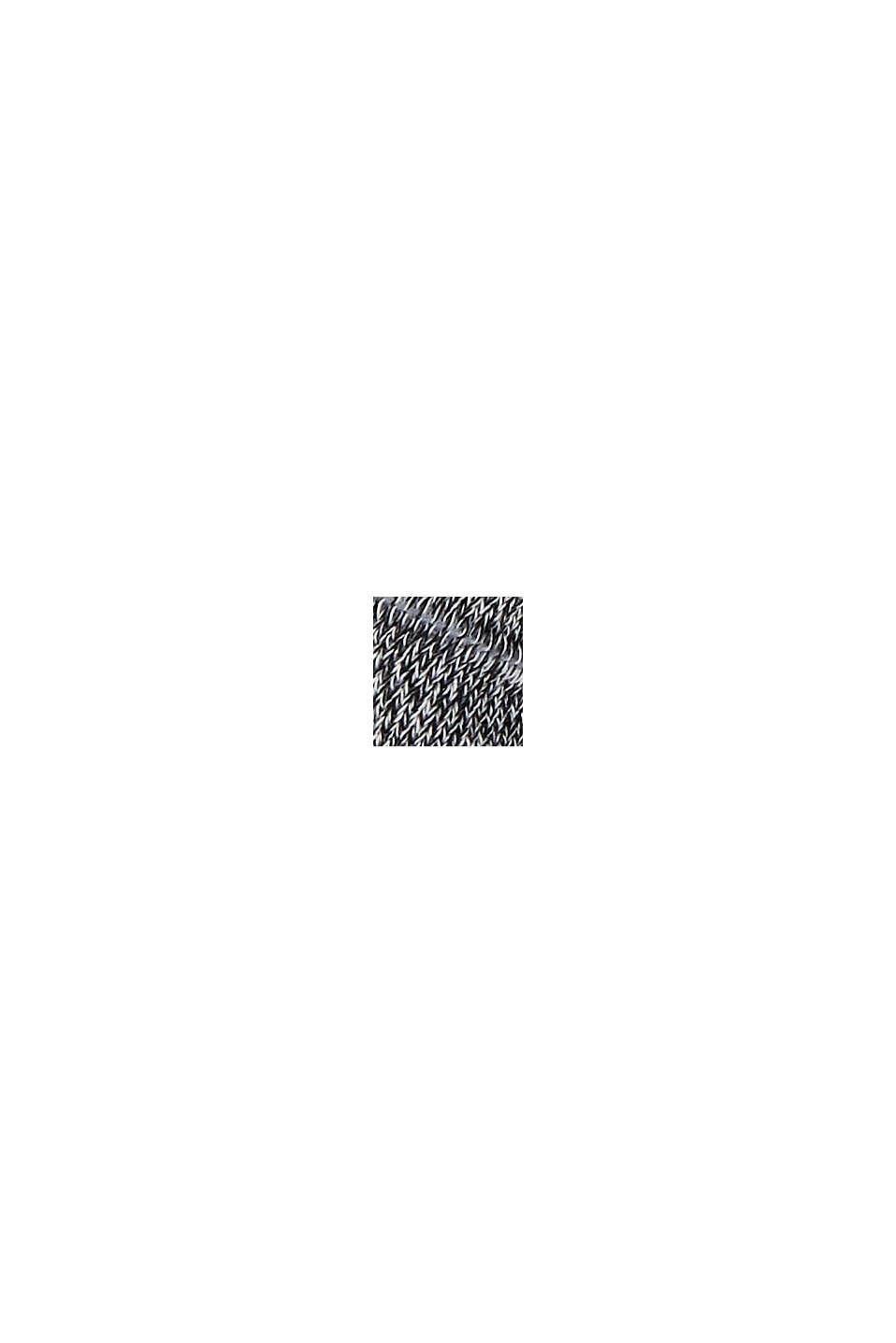 Calze a righe con cotone biologico, confezione doppia, BLACK, swatch