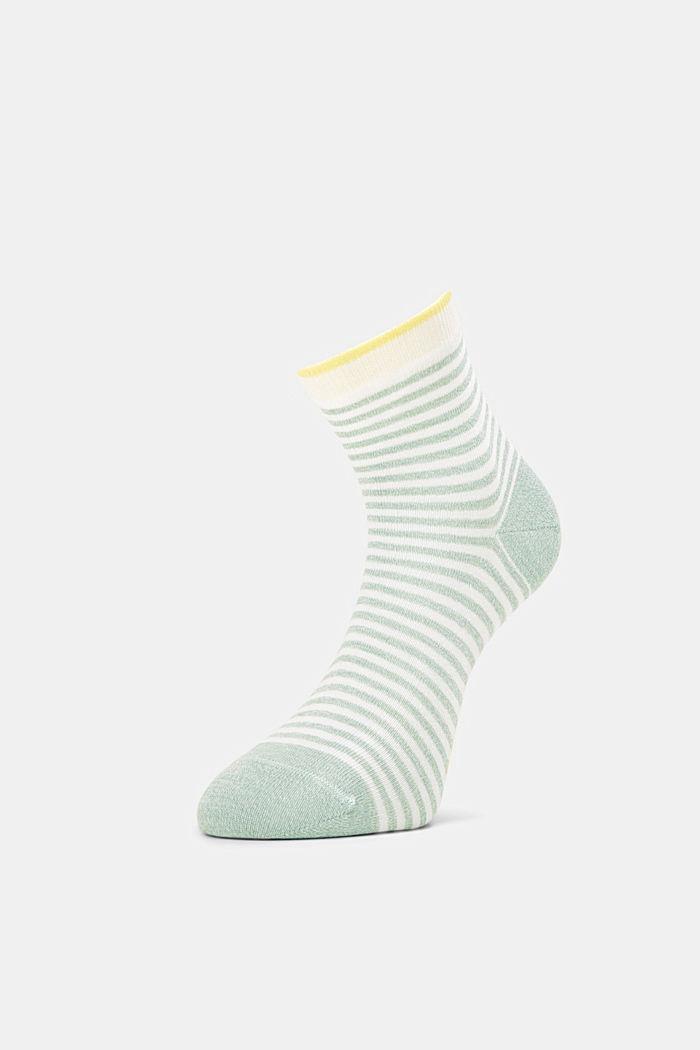 2er-Pack Ringel-Socken mit Organic Cotton, GREEN, detail image number 2