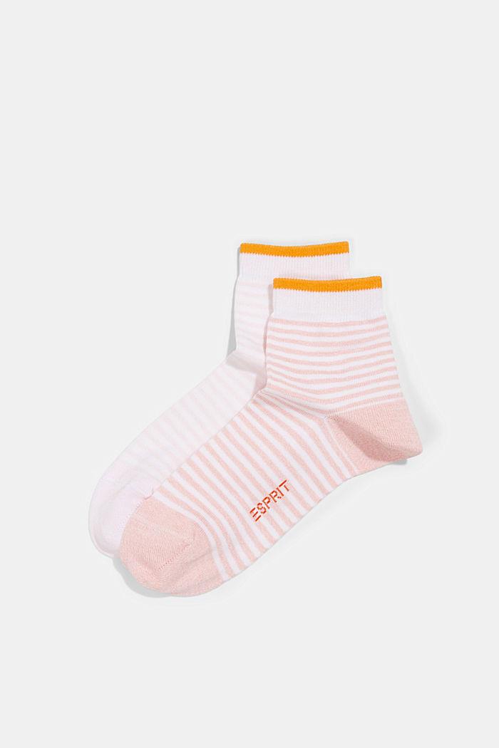 2er-Pack Ringel-Socken mit Organic Cotton, ROSE, detail image number 0