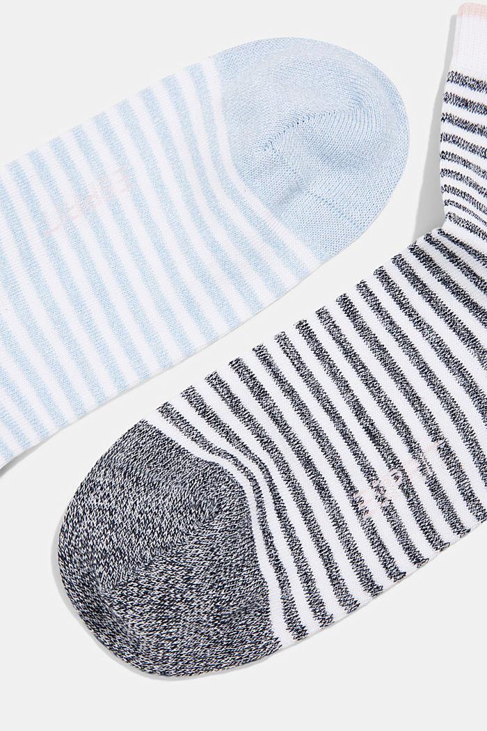 2 paar gestreepte sokken met biologisch katoen