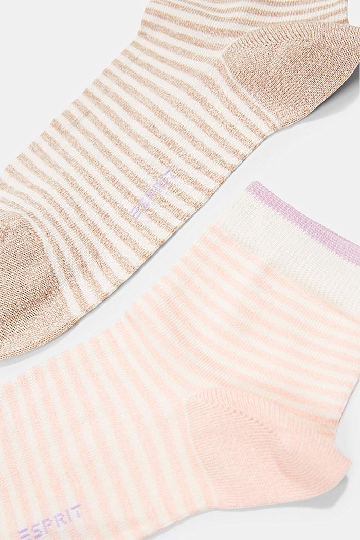 2er-Pack Ringel-Socken mit Organic Cotton, ROSE/BEIGE, detail image number 1