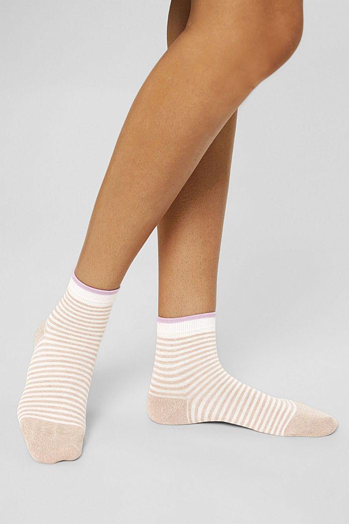 2er-Pack Ringel-Socken mit Organic Cotton, ROSE/BEIGE, detail image number 2