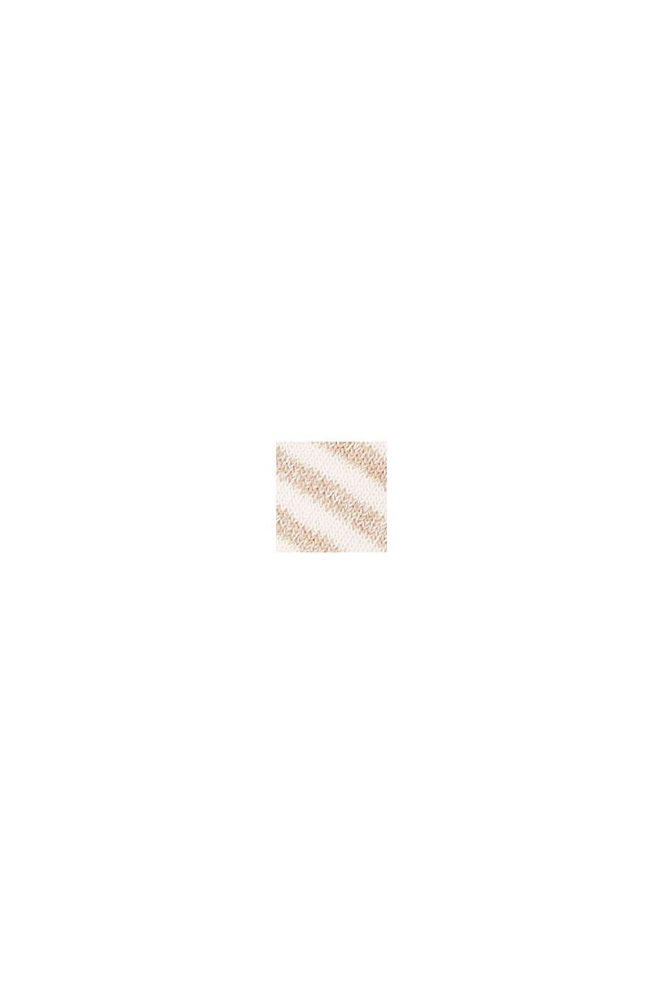 Calze a righe con cotone biologico, confezione doppia, ROSE/BEIGE, swatch