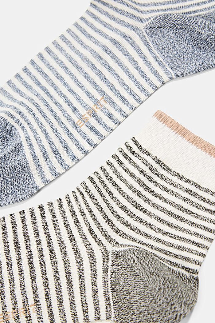 2er-Pack Ringel-Socken mit Organic Cotton, BLUE/KHAKI, detail image number 1