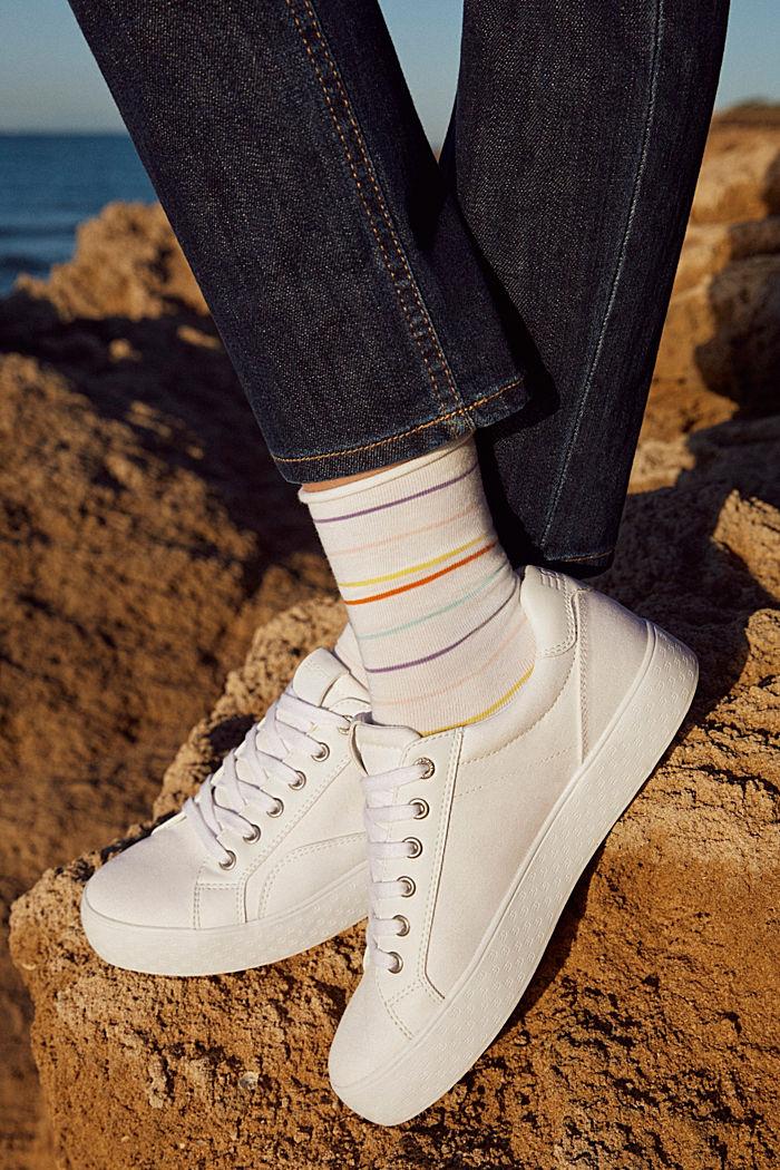 Set van twee paar sokken van een katoenmix, WHITE, detail image number 3