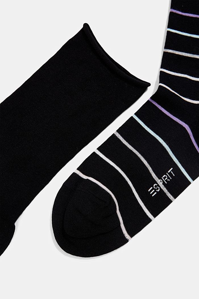 Set van twee paar sokken van een katoenmix