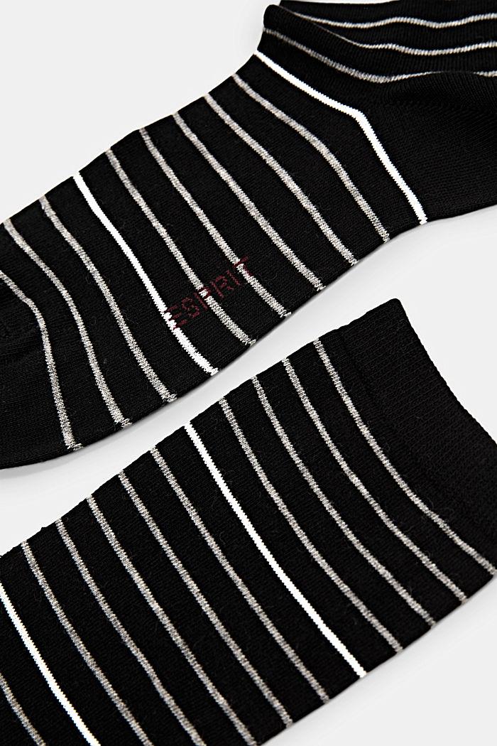 Pakke med 2 par sokker, økologisk bomuldsblanding, BLACK, detail image number 1