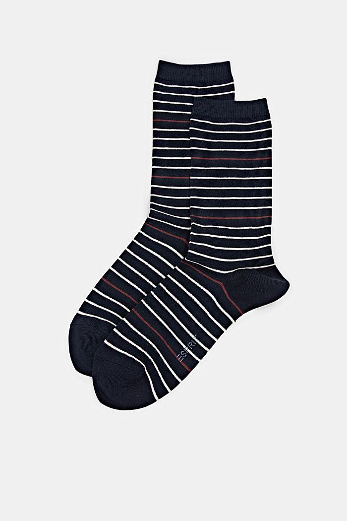 Pack de dos pared de calcetines hechos de algodón ecológico, MARINE, detail image number 0