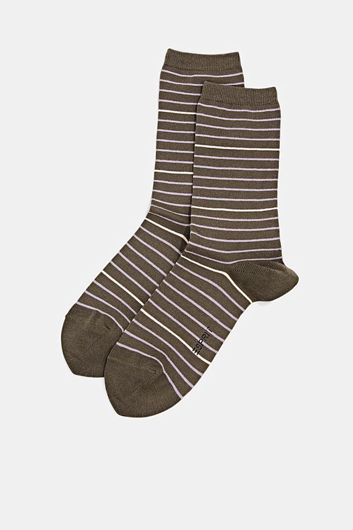 Pack de dos pared de calcetines hechos de algodón ecológico