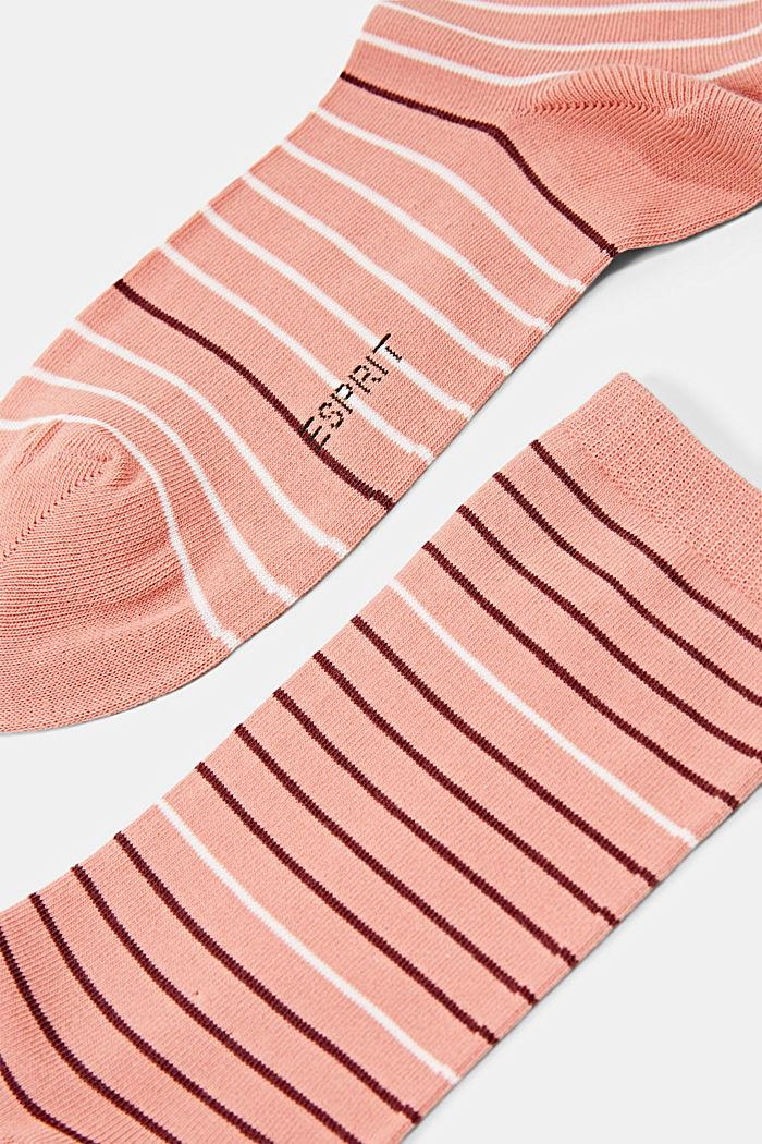 Pakke med 2 par sokker, økologisk bomuldsblanding, WILD ROSE, detail image number 1
