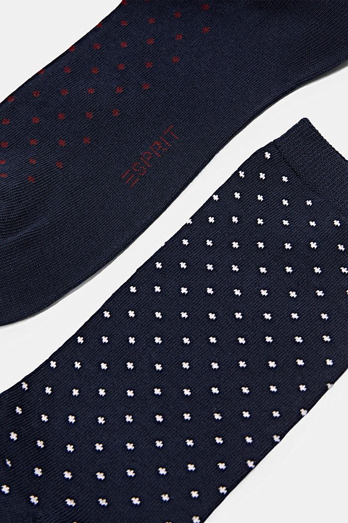 Pack de dos pared de calcetines hechos de algodón ecológico, MARINE, detail image number 1