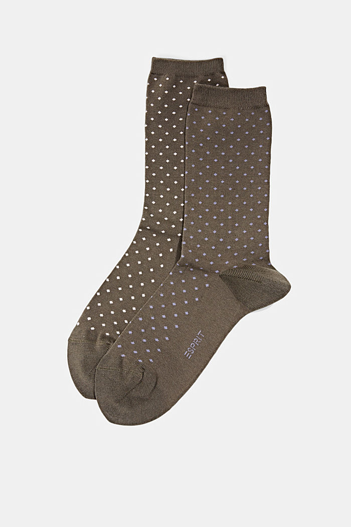 Double pack of socks made of blended organic cotton, MILITARY, detail image number 0