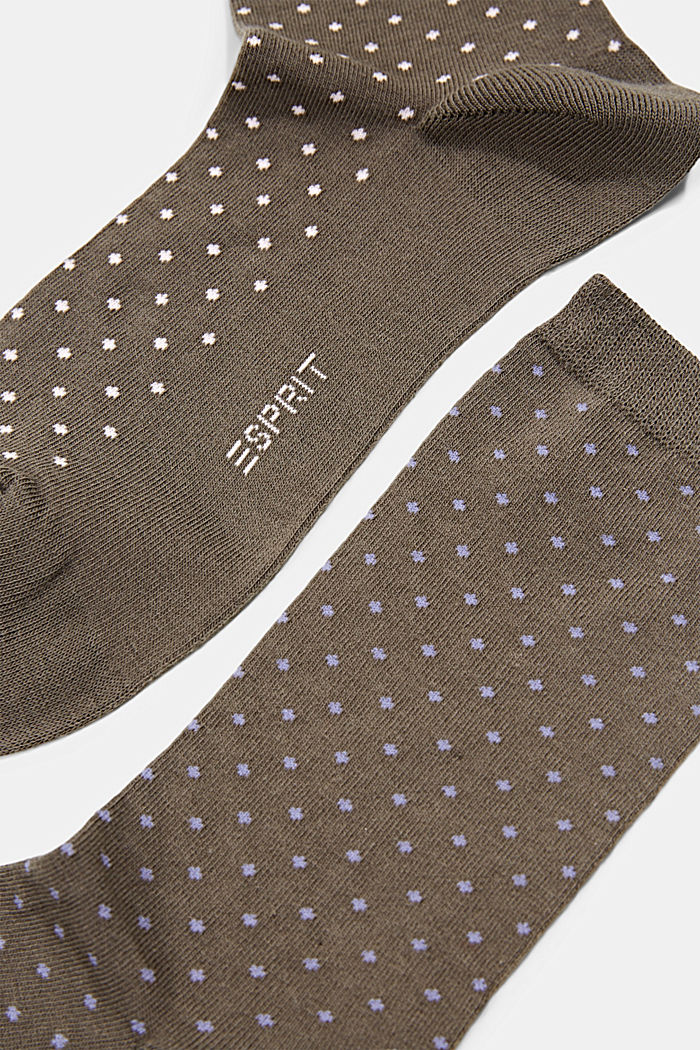 Double pack of socks made of blended organic cotton, MILITARY, detail image number 1