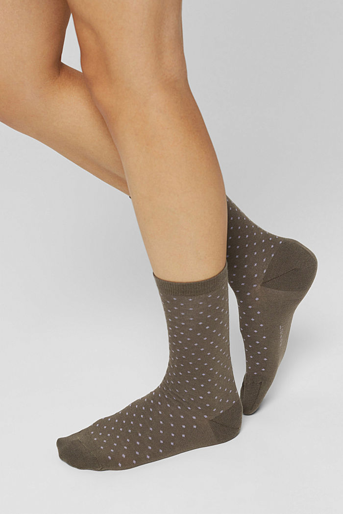 Double pack of socks made of blended organic cotton, MILITARY, detail image number 2