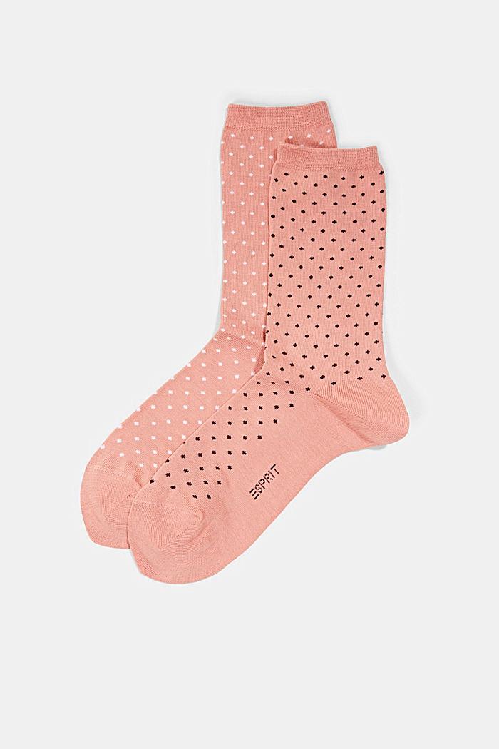 Lot de 2paires de chaussettes en coton bio mélangé