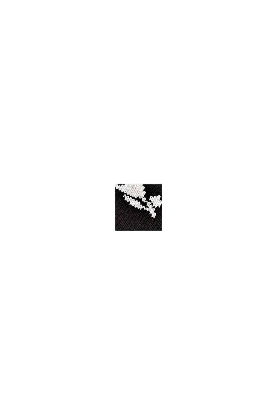 Calze corte in confezione doppia, misto cotone biologico, BLACK, swatch