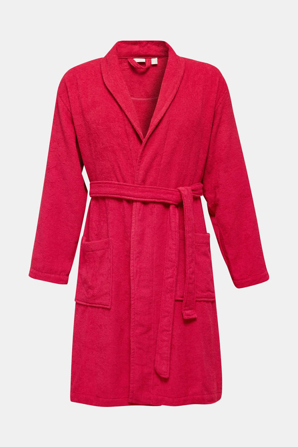 Unisex bathrobe made of 100% cotton, RASPBERRY, detail image number 1