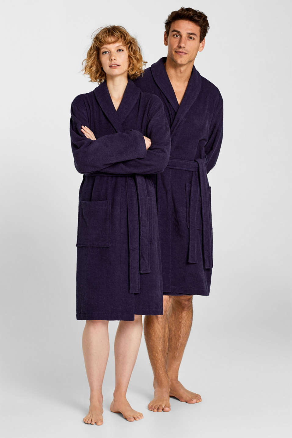 Unisex swimsuit, 100% cotton, NAVY BLUE, detail image number 0