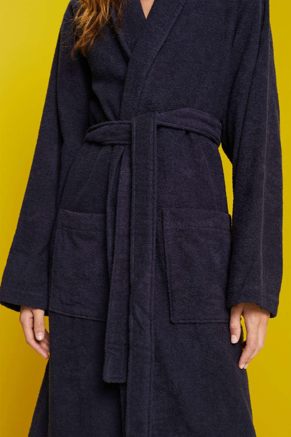 Unisex swimsuit, 100% cotton, NAVY BLUE, detail image number 3
