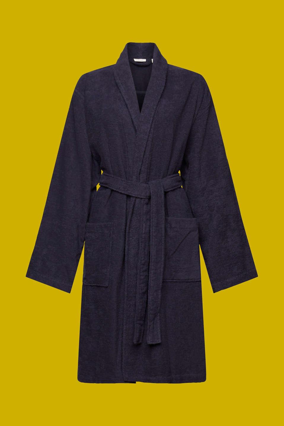 Unisex swimsuit, 100% cotton, NAVY BLUE, detail image number 4