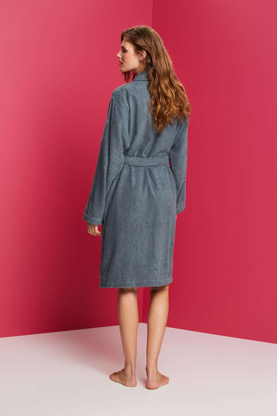 Unisex swimsuit, 100% cotton, GREY STEEL, detail image number 2