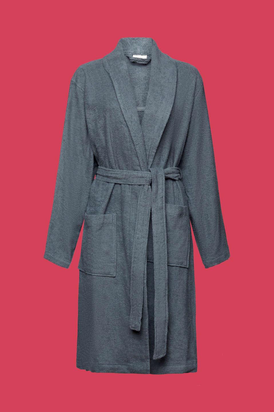 Unisex swimsuit, 100% cotton, GREY STEEL, detail image number 3
