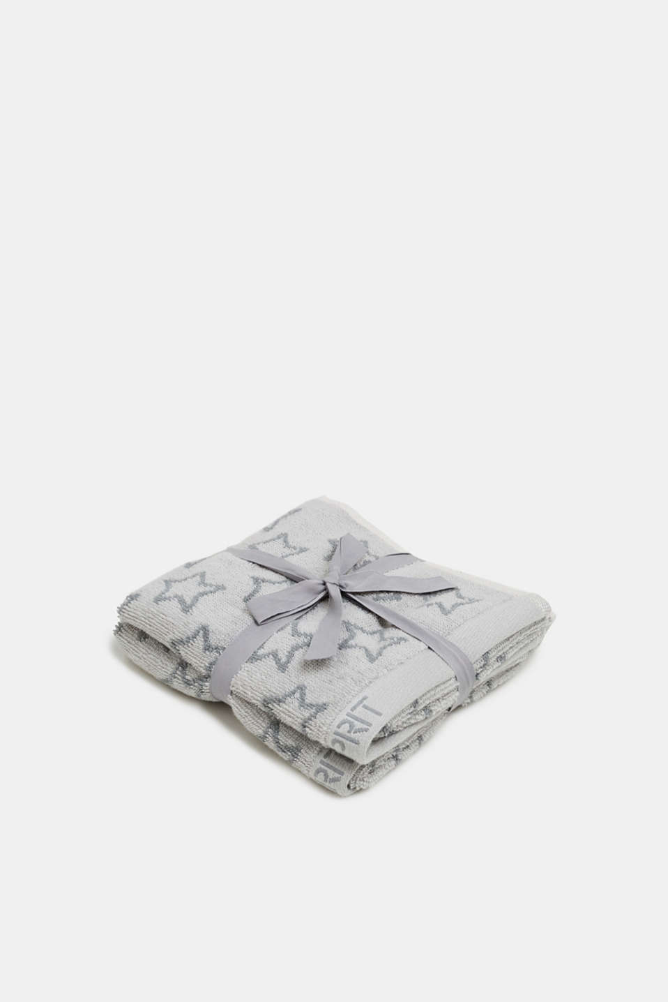 Two-pack of guest towels made of 100% cotton, STONE, detail image number 0
