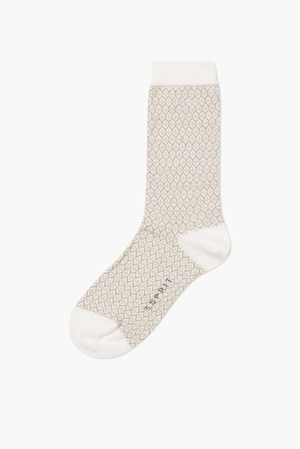 These socks with a percentage of wool are sure to turn heads with their shimmering lurex pattern