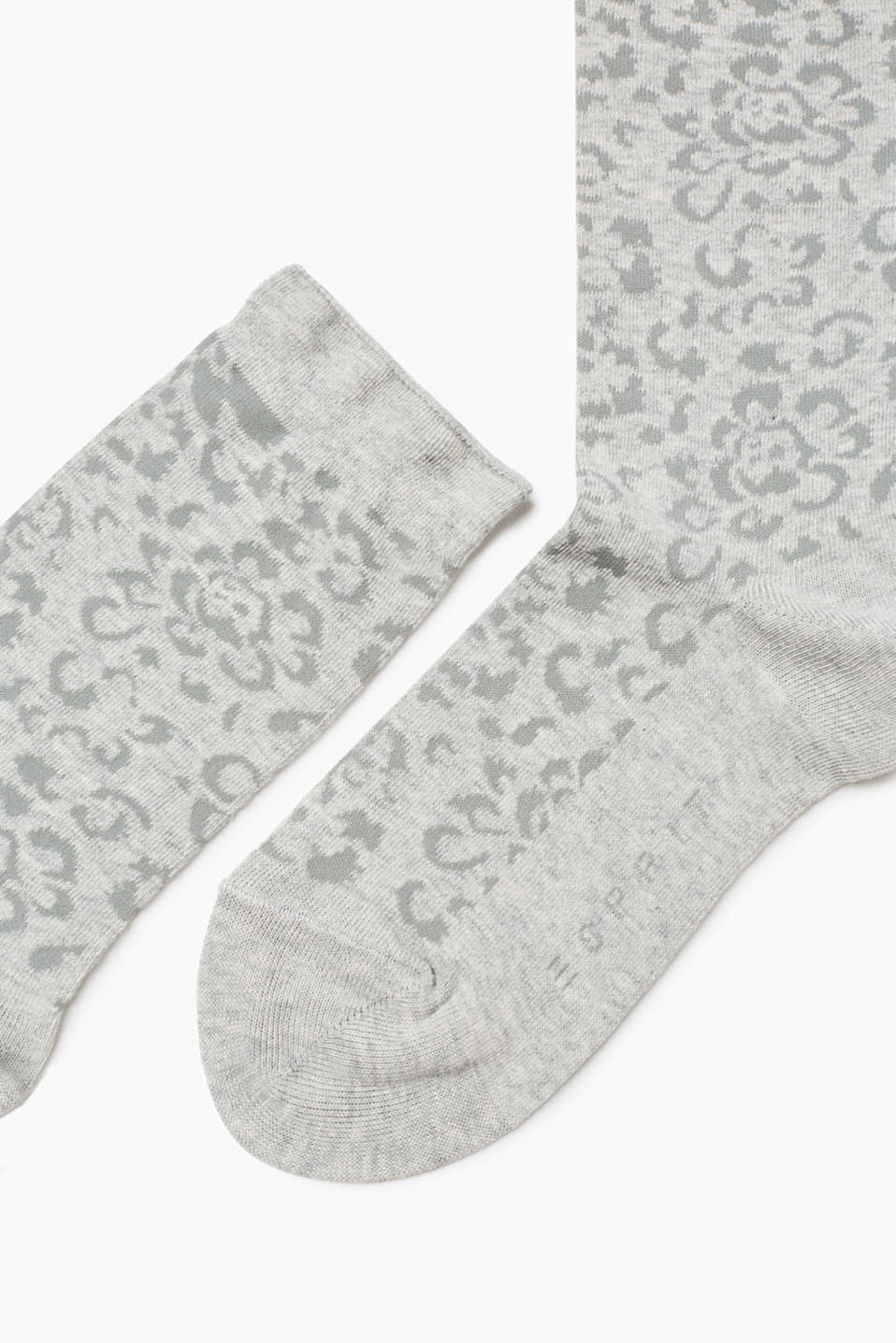 Floral socks in blended cotton